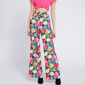 Alice and Olivia Dylan High Waisted Wide Leg Pant